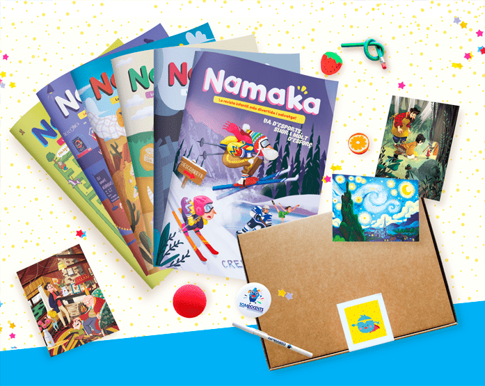 Subscripció amb capsa regal a la revista Namaka - Revista infantil